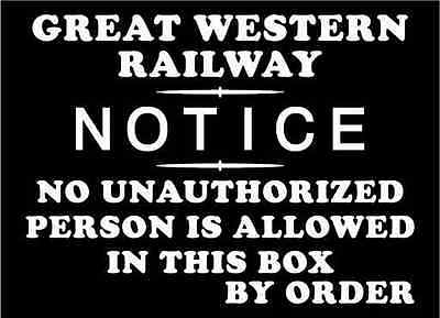 GREAT WESTERN RAILWAY Sign 29cm NOTICE Keep Toilet Clean' Cast Iron