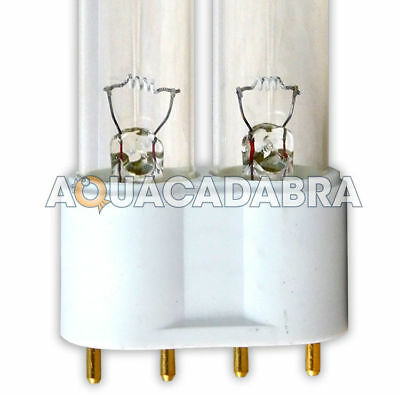UV BULB 18w 24w 36w 55w PLL 4-PIN UVC LAMP TUBE REPLACEMENT SPARE GARDEN POND