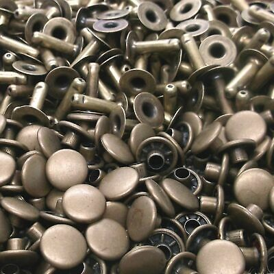 Rapid Rivets Small Antique Brass 100 Pack 1271-15 by Stecksstore