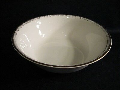 ALFRED MEAKIN ENGLAND WHITE ROUND VEGETABLE BOWL WITH GOLD AND BLACK BANDS