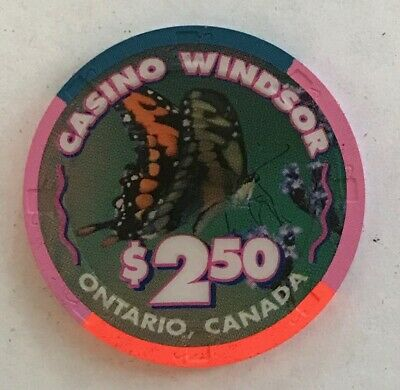 Casino Windsor $2.50 Casino Chip Canada Canadian Ontario Harrah's