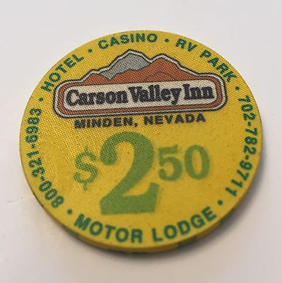 Carson Valley Inn $2.50 Casino Chip Minden Nevada Motor Lodge Hotel RV Park