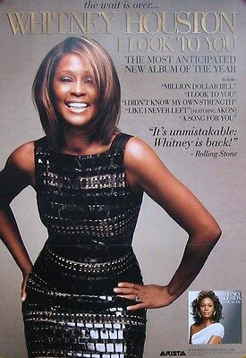 WHITNEY HOUSTON POSTER, I LOOK TO YOU (A23)