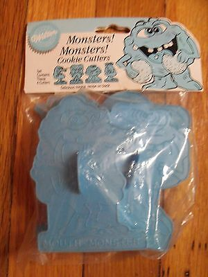 Wilton 1990 Monsters! Monsters! Cookie Cutter Set 4 NIP