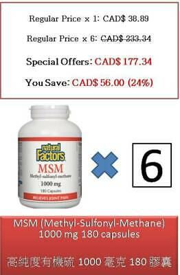 180 C MSM Methyl-Sulfonyl-Methane 1000 mg relieves joint pain - Natural Factors