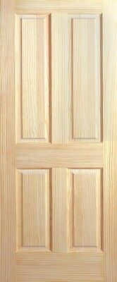 """4 Panel Raised Panels Clear Pine Stain Grade Solid Core Interior Wood Doors 6'8"""""""