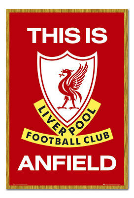 Liverpool FC Poster This Is Anfield Oak Framed Ready To Hang Frame Free P&P