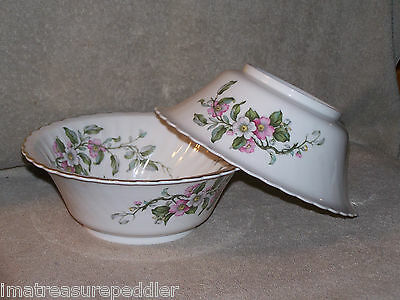 Syracuse China USA made Apple Blossom Round Vegetable Bowl