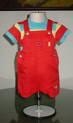 New LeTop Le Top Corduroy Overall Outfit sz 6M 9M