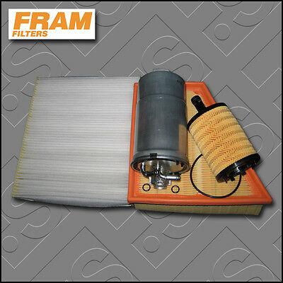 Service Kit Vw Polo (9N) 1.4 Tdi Amf Bay Fram Oil Air Fuel Cabin Filters (01-05)