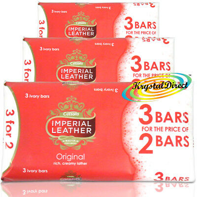 9 Bars Of Cussons Imperial Leather Original Soap 100g Ivory