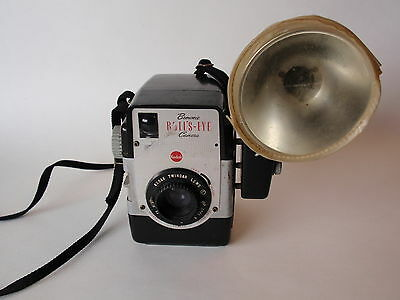 Vintage Kodak Brownie Bulls Eye Box Camera Midget Flasholder Flash Cover Twindar