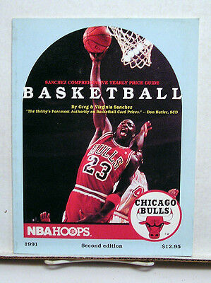 1991 NBA HOOPS Sanchez ComprehensiveBasketball Price Guide-Jordan (L6744-MH)