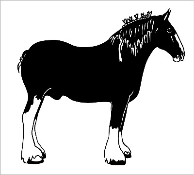 Draft Horse Decal Clydesdale Equestrian car truck window trailer sticker graphic