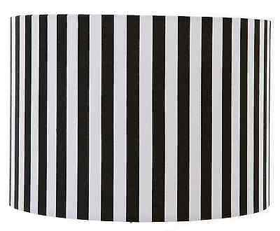 "6"", 8"", 10"", 12"" Black and White Stripe Drum Lampshade/ Ceiling/ Table/ Pendant"
