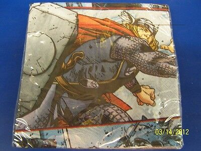 Thor The Mighty Avenger Movie Marvel Birthday Party Paper Luncheon Napkins