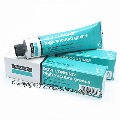 *2* DOW CORNING HIGH VACUUM GREASE Industrial Laboratory Lab Stopcock Glassware