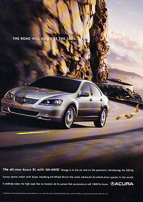 2005 Acura RL - SH-AWD Road - Classic Vintage Advertisement Ad PE93