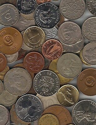 *good Gift Idea**bag /  Lot All Different Foreign World Coins**bonus**
