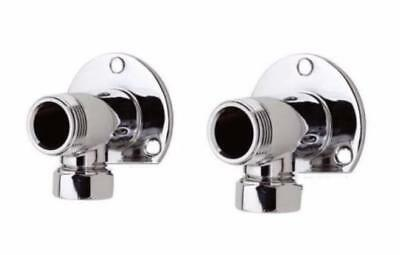 Backplate Wall Elbow Mounts Exposed Thermostatic Bar Mixer Shower Valve Fixing