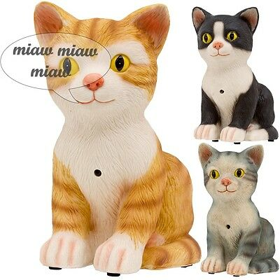 Special Edition Cute Meowing Noise Cats With Motion Sensor Ornament Figurine NEW