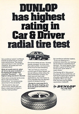 1976 Dunlop Tires Opel 1900 - Classic Vintage Advertisement Ad PE94