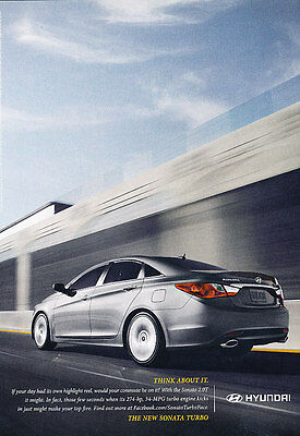 2011 Hyundai Sonata Turbo - Classic Vintage Advertisement Ad PE96