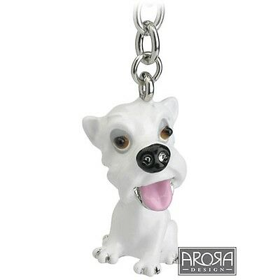 Key Ring Little Paws West Highland White Terrier, Westie Dog Keyring NEW 14731