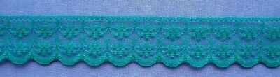 20mm Emerald Green Lace