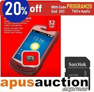 Sandisk 32GB 32G MicroSD card MicroSDHC SD Adapter New Memory Micro SDHC TF