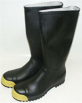 Airboss-Defense HAZMAT Steel Toe Toxilogical Protective Rubber Boots Size 12