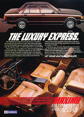 1984 Nissan Maxima - Classic Vintage Advertisement Ad PE101
