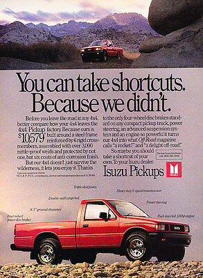 1988 Isuzu Pup Pickup Truck - 4x4 - Classic Vintage Advertisement Ad A97