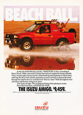1990 Isuzu Amigo - Beach Ball - Classic Vintage Advertisement Ad A97