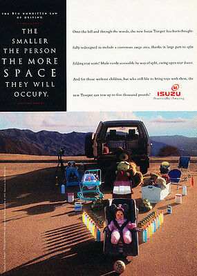 1993 Isuzu Trooper - space - Classic Vintage Advertisement Ad A97