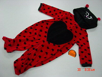 NWT Infant Girls Lady Bug Themed Halloween Outfit New Unused