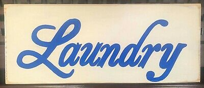 LAUNDRY Cottage Country Chic Shabby Style Sign WOOD Plaque U Pick Color!