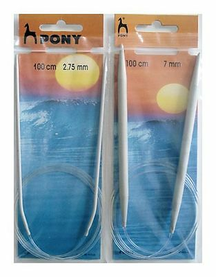 Pony Circular Knitting Needle 100cm  2.75mm - 10mm