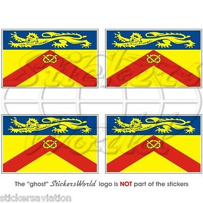 "Decals x4 Bumper-Helmet Stickers 2/"" ISLE of WIGHT County Flag England UK 50mm"