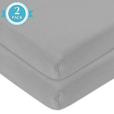 Premium Quality Cot Bed Fitted Sheets 100% Cotton Size:70x140cm(Pack of 2,White)