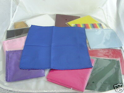 "Any TOP Pocket Polyester Hankie-9"" x 9"" = 23cm x 23cm-Squares>P&P 2UK >1st Class"