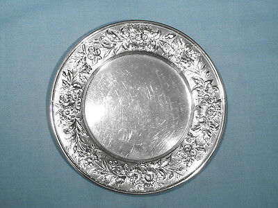 S Kirk & Son Sterling Bread Plate #127 ~ Repousse ~ No Mono