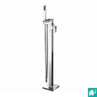 Free Standing Bath Filler Tap (Chrome Waterfall Mixer Faucet Shower Head) TB3097