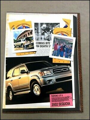 2002 Toyota Sequoia Original Sales Brochure
