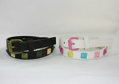 Children's PYRAMID Fashion Belts. Synthetic Leather. ***2 STYLES + SIZES***