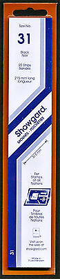 Showgard Stamp Mounts Size 31/215 BLACK Background Pack of 22