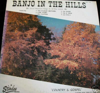 1976 Starday Records 33 1/3rpm Mono LP - Banjo in the Hills  Country / Bluegrass