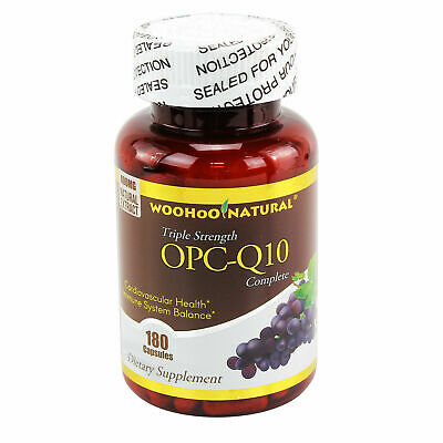 3 x Strength OPC-CoQ10 Grape Seed Extract 180 Caps 3 Months Anti-oxident Support