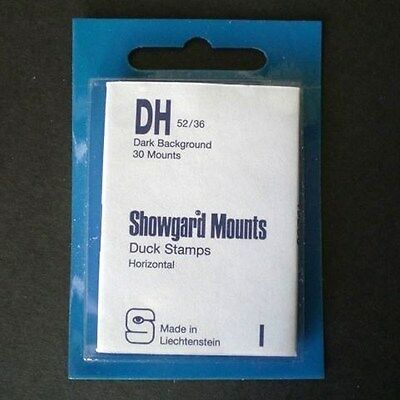 Showgard Stamp Mounts Size DH 52/36 BLACK Background Pack of 30