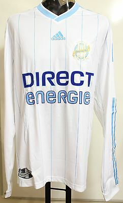 Olympic Marseille 2009/10 Player Issue L/s Home Shirt By Adidas Size Xl Bnwt